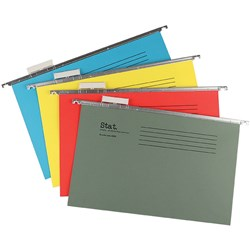 STAT SUSPENSION FILE FOOLSCAP With Index And Tabs Assorted Pack of 20