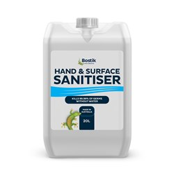 BOSTIK HAND & SURFACE SANITISER LIQUID 20L BOTTLE