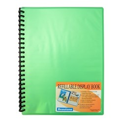 BEAUTONE DISPLAY BOOK Refillable A4 20pkt Frost Grn