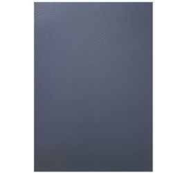 CUMBERLAND BINDING COVERS A4 LEATHERGRAIN 280 GSM PK100 210 X 297MM NAVY BLUE