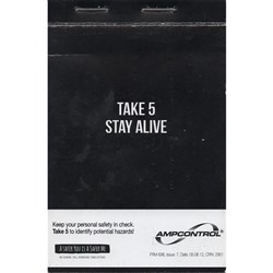 AMPCONTROL TAKE 5 BOOK STAY SAFE Sold in 10
