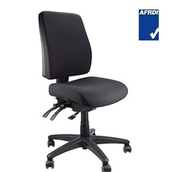 ERGOFORM CHAIR WITHOUT ARMS BLACK FABRIC