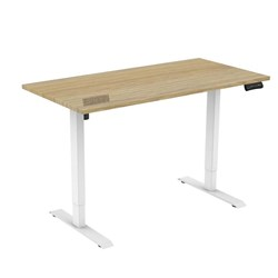 UPRYZ XS SIT & STAND DESK SD201 1500mm 2 stage 1 Motor white  Polytec Natural Oak top