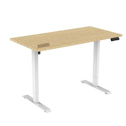 UPRYZ XS SIT & STAND DESK SD201 1500mm 2 stage 1 Motor white Silver Ash top