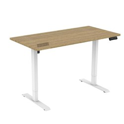 UPRYZ XS SIT & STAND DESK SD201 1500mm 2 stage 1 Motor white   Sublime Teak top