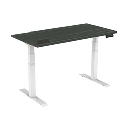 UPRYZ XD SIT & STAND DESK SD302W 1500mm 3 stage 3 motor white - Blackened Linewood top