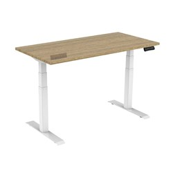 UPRYZ XD SIT & STAND DESK SD302W 1500mm 3 stage 3 motor white  Sublime Teak top