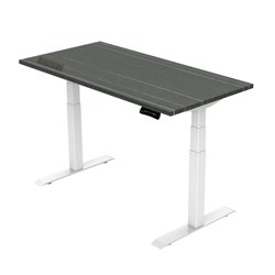 UPRYZ XD SIT & STAND DESK SD302W 1800mm 3 stage 3 motor white   Blackened Linewood top