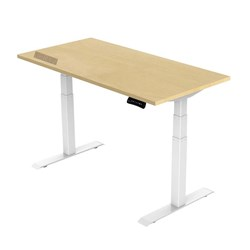 UPRYZ XD SIT & STAND DESK SD302W 1800mm 3 stage 3 motor white  std. Curly Birch top