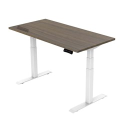 UPRYZ XD SIT & STAND DESK SD302W 1800mm 3 stage 3 motor white  Milano Walnut top
