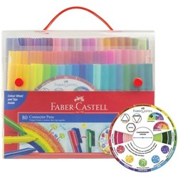 FABER CASTELL CONNECTOR PENS ASSORTED SET 80