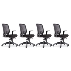4x RAPIDLINE OPERATOR HARTLEY MESH BACK CHAIR WITH ARMS BUNDLE