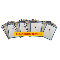 PROTEXT WRITE N WIPE SLEEVES A3 INCLUDES PENS CLASSROOM PACK OF 20