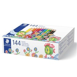 STAEDTLER NORIS CLUB TRIANGULAR COLOUR PENCILS CLASSROOM PACK 144