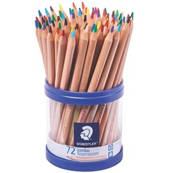 STAEDTLER NATURAL JUMBO TRIANGULAR COLOUR 72 PENCIL CUP