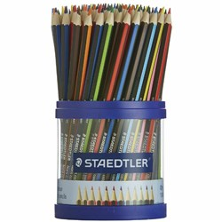 STAEDTLER NORIS COLOUR 108 ASSORTED COLOURED PENCIL CUP
