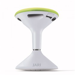 JARI HEIGHT ADJUSTABLE STOOL WHITE WITH GREEN PAD
