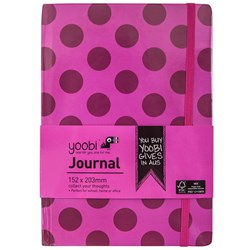YOOBI JOURNAL A5 72 PAGES HARD COVER PINK DOT
