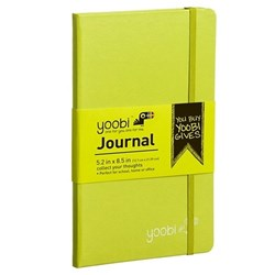 YOOBI JOURNAL MEDIUM 80 PAGE GREEN/YELLOW