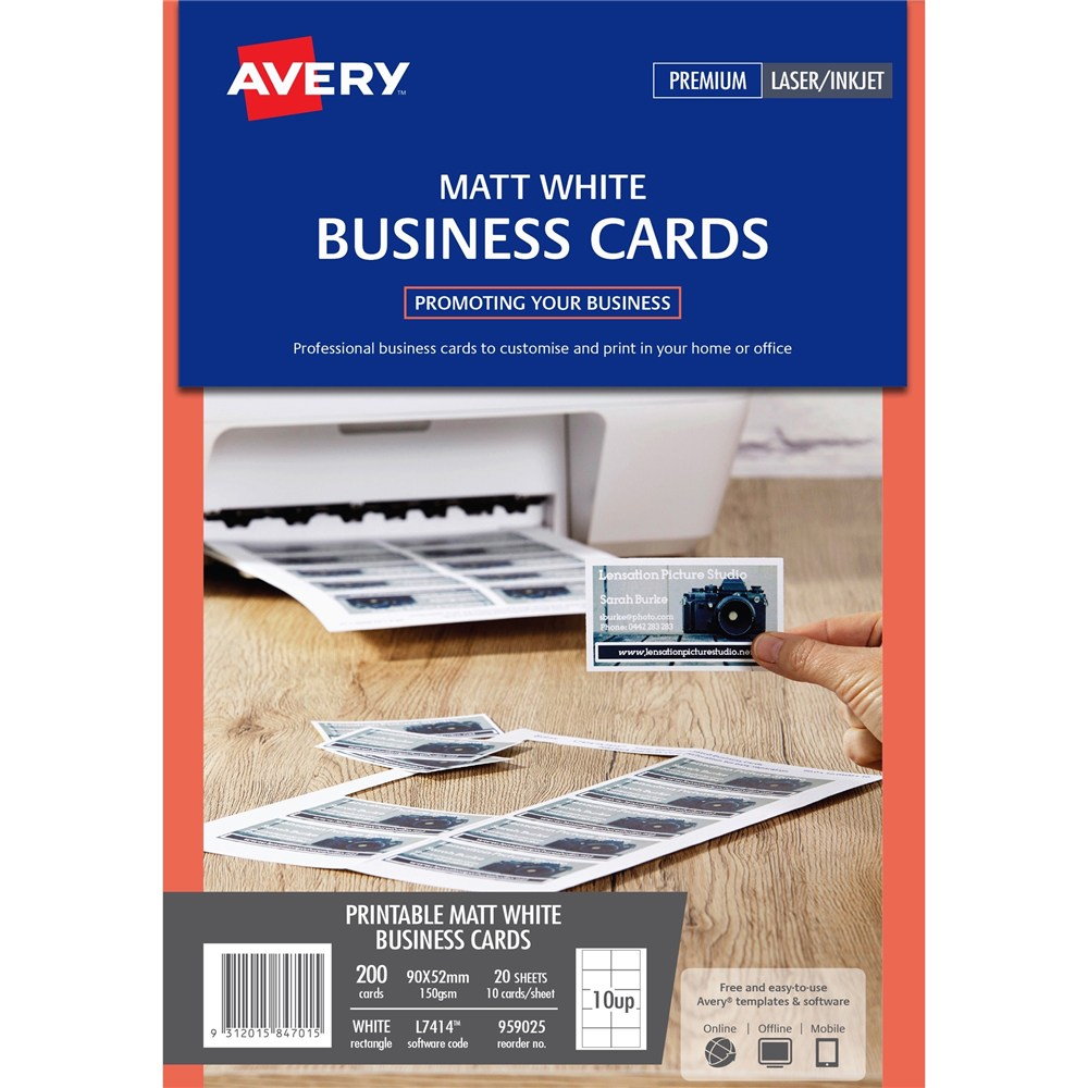 Product browse stuart and dunn office choice for Perforated business card paper