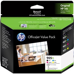 HP INK CARTRIDGE 905XL VALUE PACK