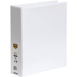 MARBIG CLEARVIEW INSERT BINDER A4 4D Ring 50MM White