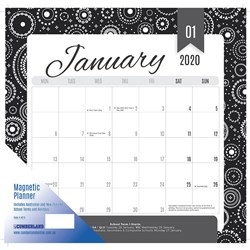 CUMBERLAND MAGNETIC CALENDAR Month To View 325X315mm 2020 Assorted