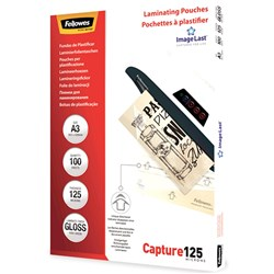 FELLOWES® IMAGELAST Laminating Pouch A3 125 Micron Pack of 100