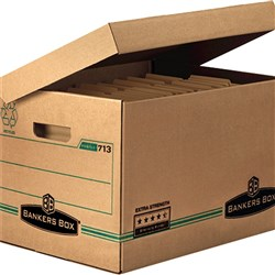 BANKERS BOX® ARCHIVE BOX 713 Extra Strength Hinged Lid