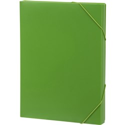 MARBIG DOCUMENT BOX A4 Strap Lime