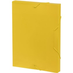 MARBIG DOCUMENT BOX A4 Strap Yellow