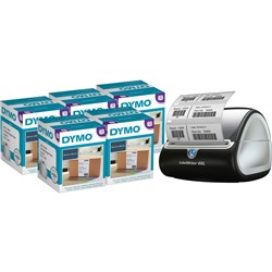 DYMO LABELWRITER LABEL PRINTER Bundle 524229 and 5 x 524243 XL Shipping Labels