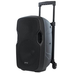 GEMINI PORTABLE PA SPEAKER 10 INCH 1000W WITH MICROPHONE Black