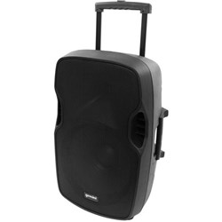 GEMINI PORTABLE PA SPEAKER 15 INCH 2000W WITH MICROPHONE Black
