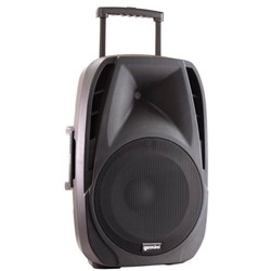 GEMINI PORTABLE PA SPEAKER 15 INCH 800W WITH WIRELESS MICROPHONE Black