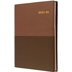 Collins Vanessa Financial Year Diary A4 1 Day to a Page 30min Tan 2021/22