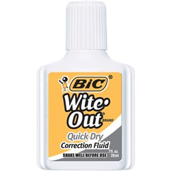 Bic Wite Out Correction Fluid Plus Quick Dry 20ml