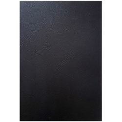 GBC Binding Covers A4 250gsm Leathergrain Pack of 100 Black