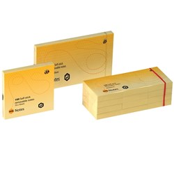MARBIG® NOTES YELLOW 40X50MM PK12 YELLOW 40X50MM Re-Positionable notes