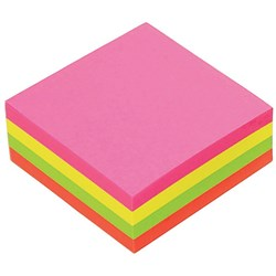 POST IT NOTE MARBIG 75 X 75 BRILLIANT CUBES NEON 320 Sheets per Cube