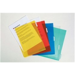 MARBIG A4 5 TAB DIVIDERS POLYPROPYLENE PP SIDE POCKET COLOUR