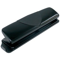 MARBIG 3 HOLE PUNCH 10Sht Cap Black