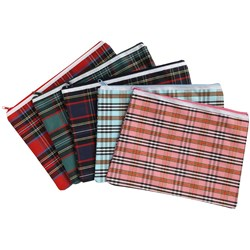 CASE TARTAN PENCIL CASE 340 X 170 JUMBO