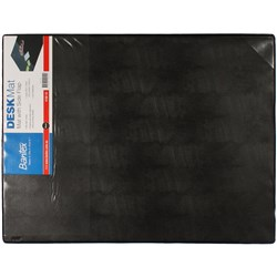 DESK PAD WITH CLEAR FLAP BLACK