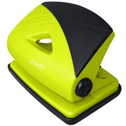 BANTEX FRUIT COLOUR HOLE PUNCH 2 HOLE LIME GREEN 18 SHEET CAPACITY
