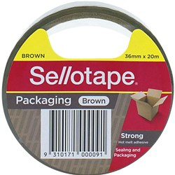 SELLOTAPE HOT-MELT ADHESIVE Packaging Tape 36mmx20m Brown