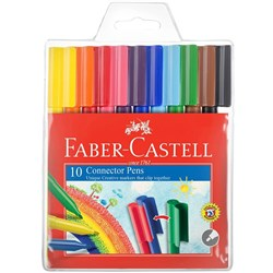 FABER-CASTELL CONNECTOR PEN Assorted 10s