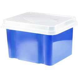 Italplast Storage - File Box Blueberry Base - Clear Lid