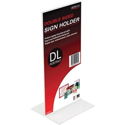 Deflect-O Sign Menu Holder Double Sided DL Portrait