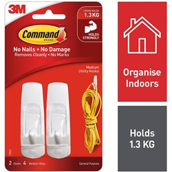 3M 17001 MEDIUM HOOK MEDIUM WHITE